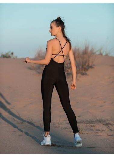 LizzSpor Yoga Pilates Fitness Spor Tulumu Renkli
